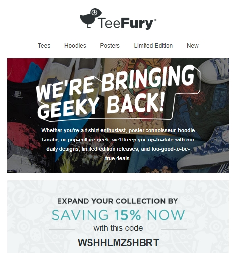 Teefury coupon code