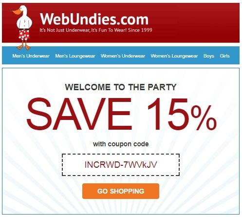 Webundies coupon code