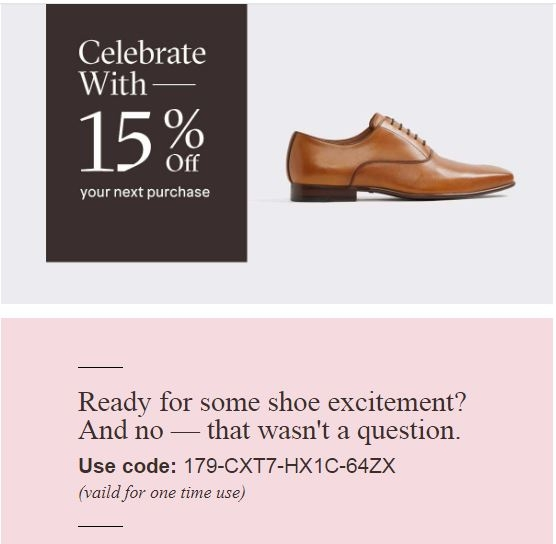 Aldoshoes coupon code