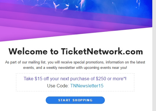 15 Off TicketNetwork Coupon Code