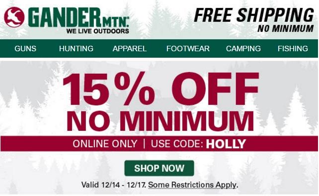 Gander mountain coupon code 30 off
