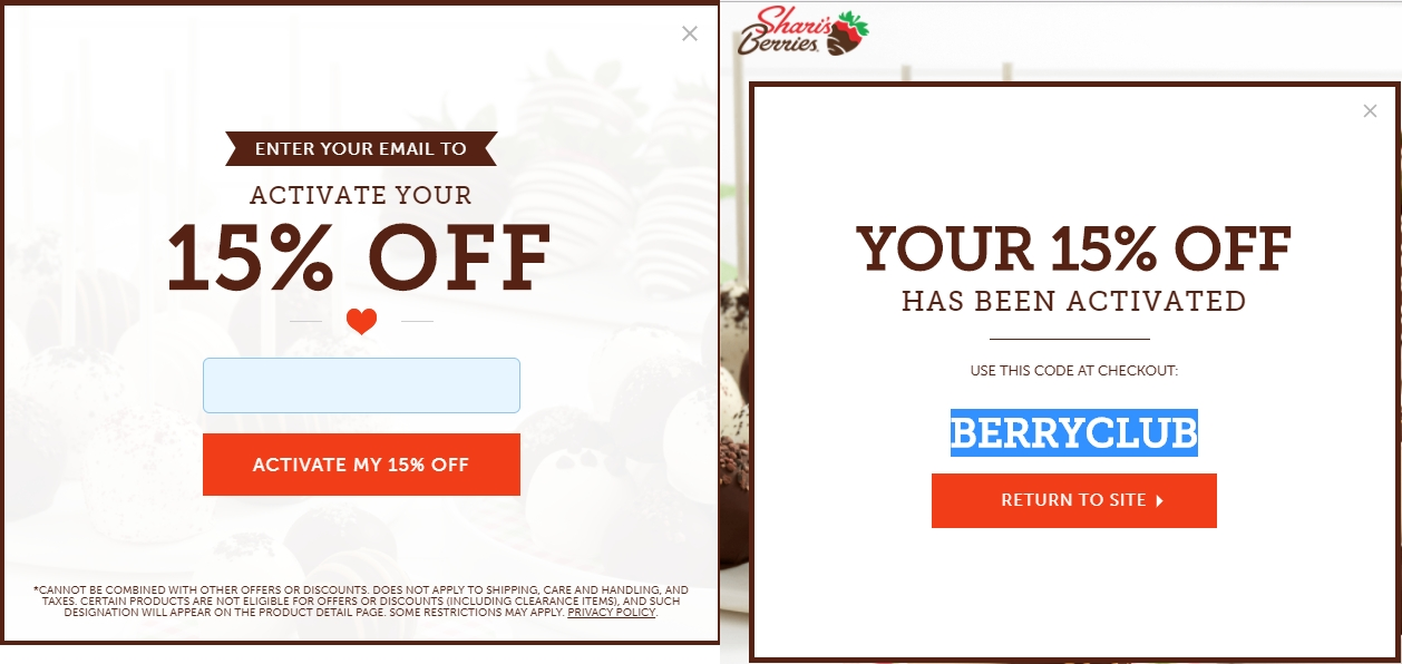 Shari's berries commercial coupon code 2018