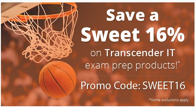Transcender coupon for 15% OFF Transcender IT exam prep items Don't wait until it's too late - head over to selectcarapp.ml these days and feel free to use the promotional code to benefit from a whooping 15% price drop on Transcender IT exam prep products!