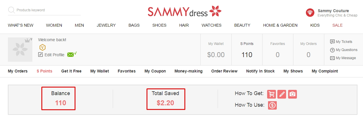 Sammydress coupon code