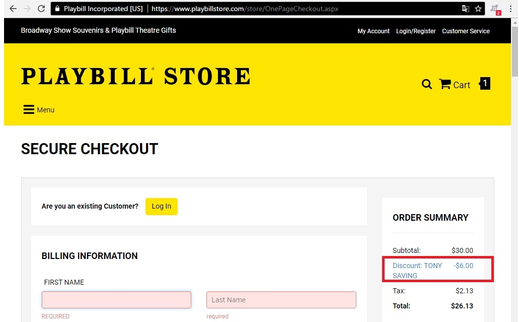 playbillstore com coupon