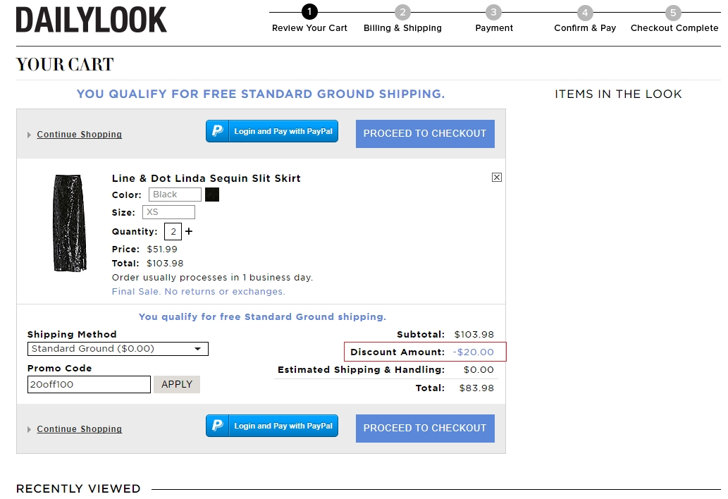 Dailylook coupon july 2018