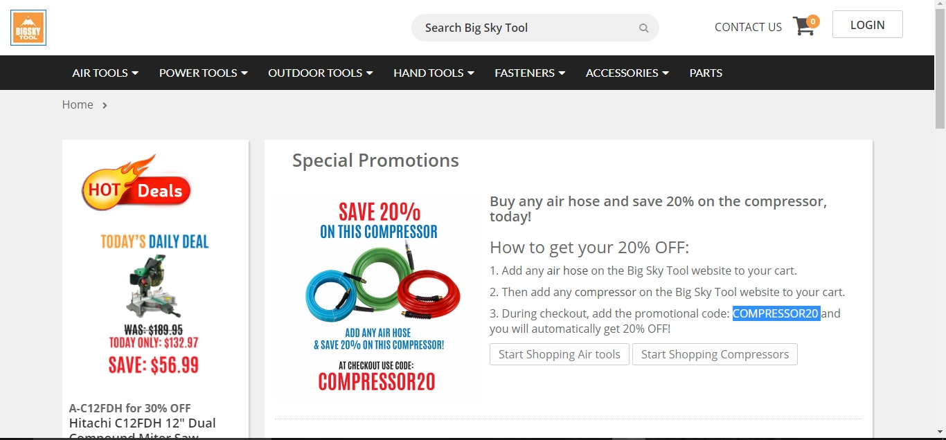 Never miss Big Sky Tool 69 coupons before the offer is gone. Here you can find online coupons, seasonal deals and other special promotions for Big Sky Tool. We try our best to help you save more and make your shopping more enjoyable by offering the best and hand-verified coupon .