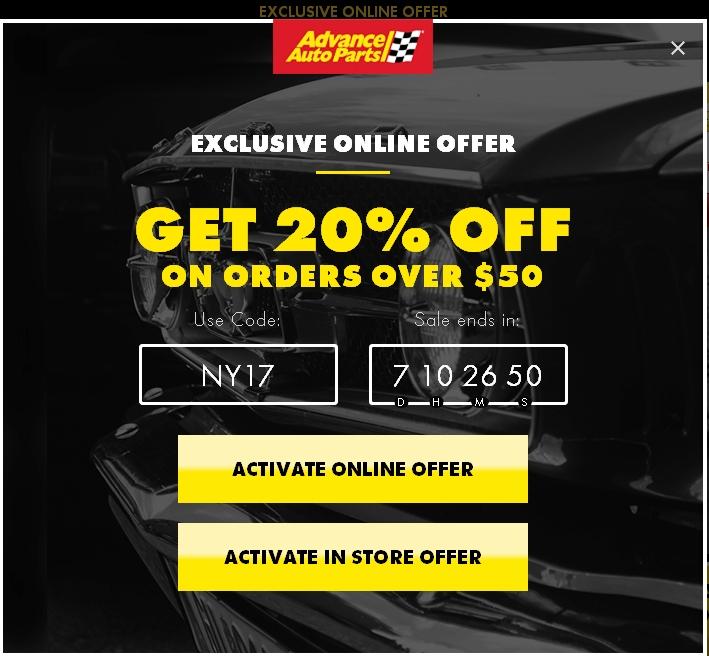 Advance auto parts coupon codes 50 off