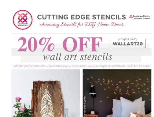 Get 14 Cutting Edge Stencils coupon codes and promo codes at CouponBirds. Click to enjoy the latest deals and coupons of Cutting Edge Stencils and save up to 20% when making purchase at checkout. Shop download-free-carlos.tk and enjoy your savings of November, now!