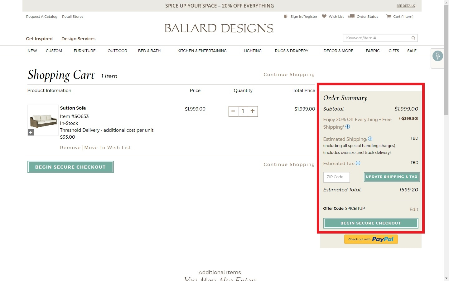 Ballard designs online coupons free shipping