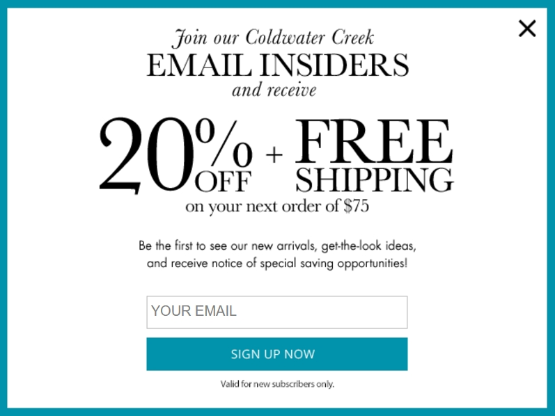 Coldwater creek coupon code