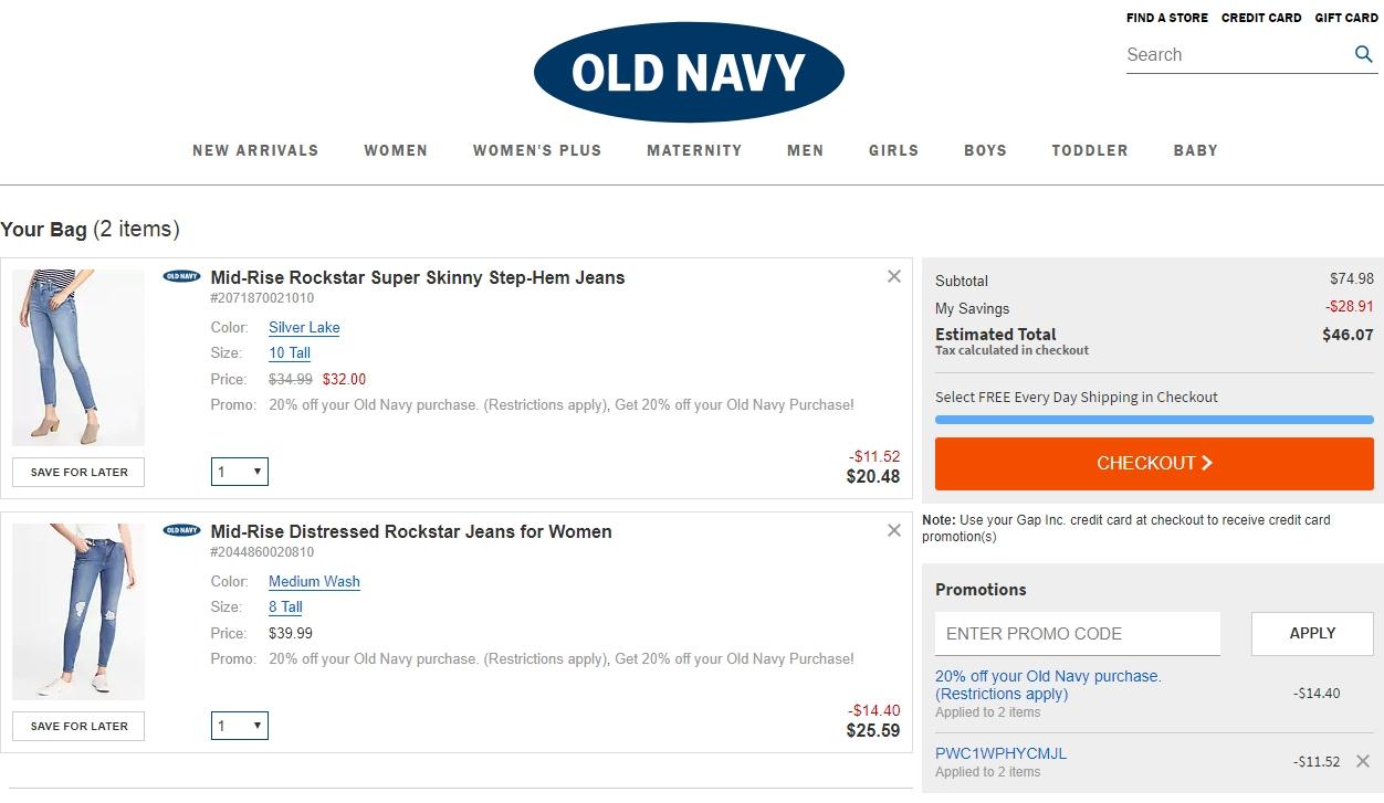 Old navy canada coupon code november 2018