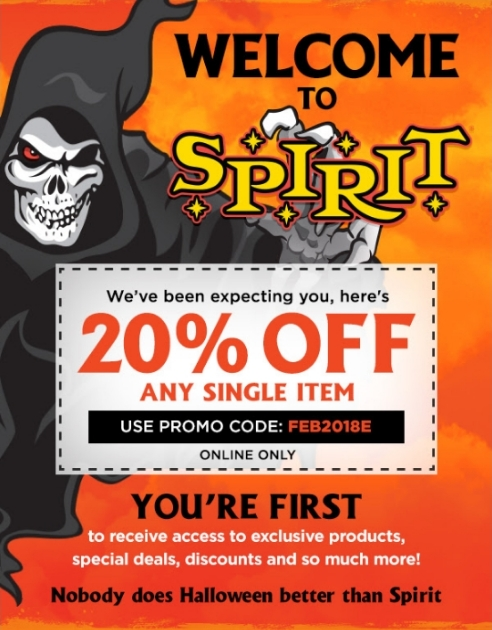 Spirit halloween coupons 2018