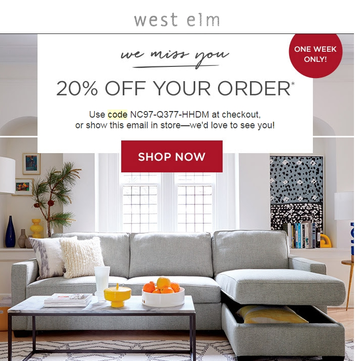 10 off west elm coupon code Staples hp ink coupons 2018