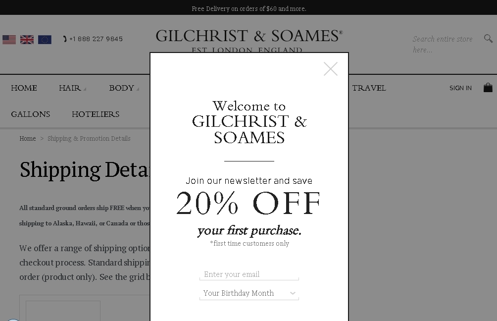 The official store of Gilchrist and Soames Coupons & Deals offers the best prices on Health & Beauty and more. This page contains a list of all Gilchrist and Soames Coupons & Deals Store coupon codes that are available on Gilchrist and Soames Coupons & Deals store.