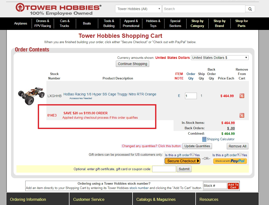 Tower hobbies coupon code