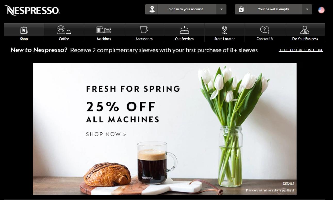15 off nespresso coupon code nespresso 2018 promo codes. Black Bedroom Furniture Sets. Home Design Ideas