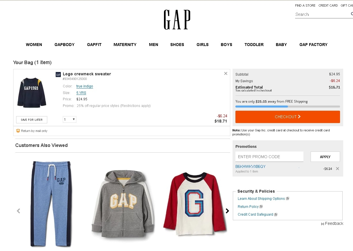Promotion code gap / Old navy coupona