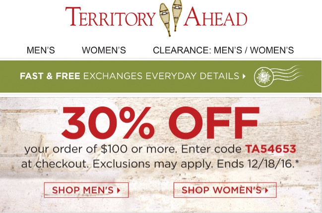 Territory Ahead has an outstanding selection of apparel for men and women who want to live life to the fullest. From its 'Adventure Essentials' suggestions and Island Shop for men to the sunkissed and prints collections for women, Territory Ahead offers the wardrobe needed to face whatever life brings next.