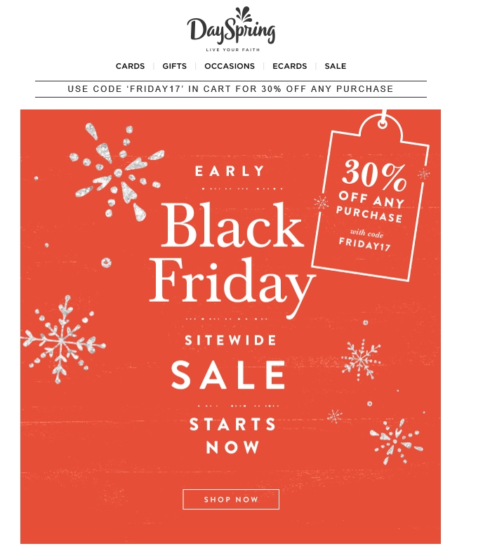 Dayspring coupon code