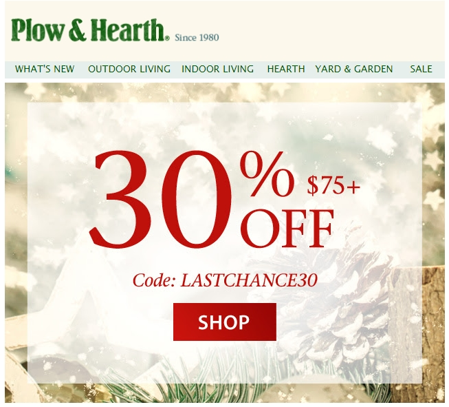 Plow and hearth coupon code