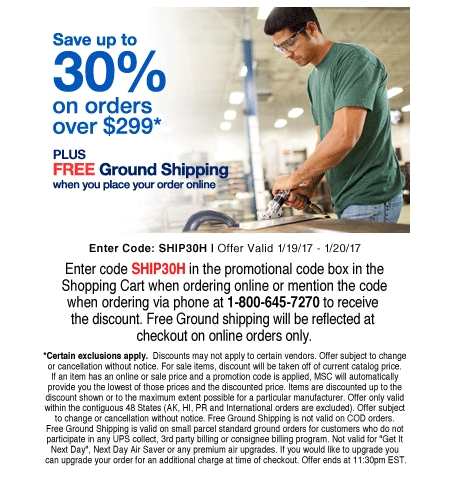 msc coupon free shipping
