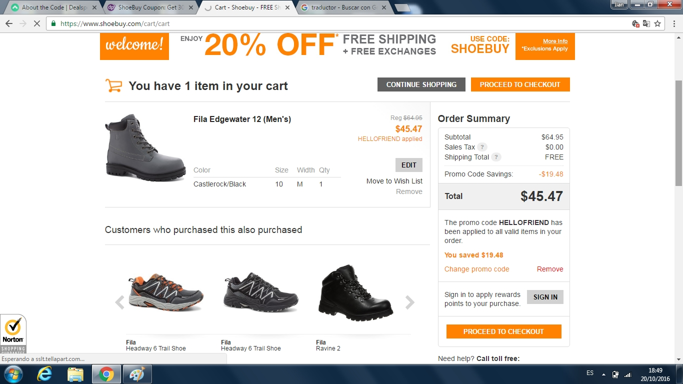 Shoe buy coupon code