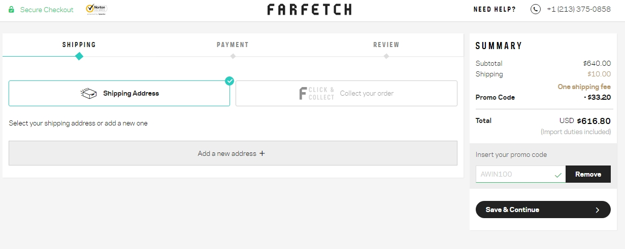 Farfetch discount coupon