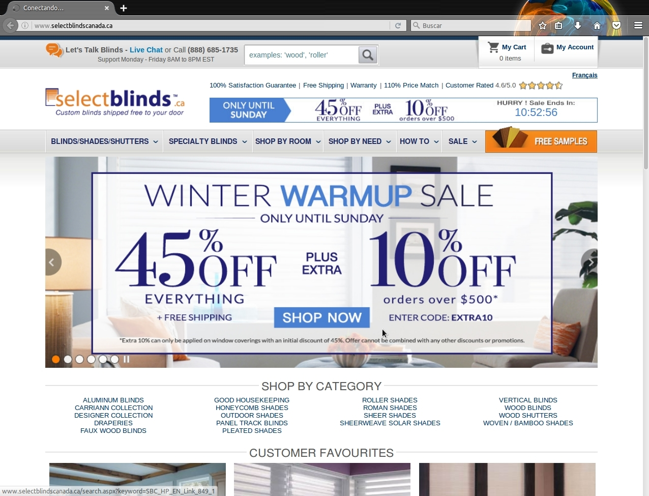 Select blinds coupon code