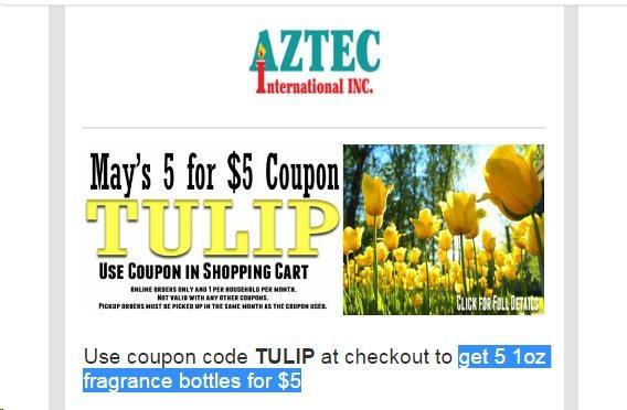 aztec international coupon code