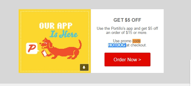Portillos coupon code