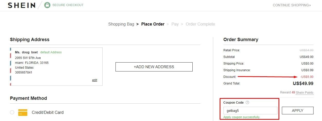 Shein com coupons
