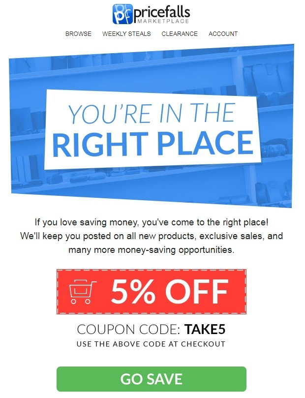 Pricefalls coupon code