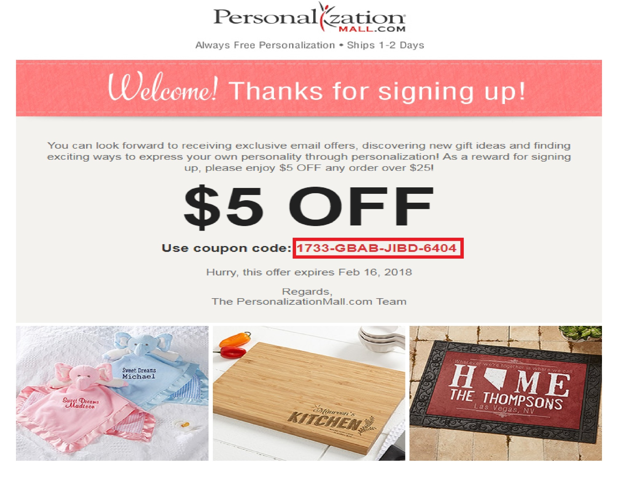 Discount coupons personalization mall