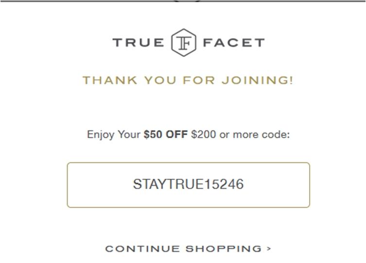 Truefacet coupon code