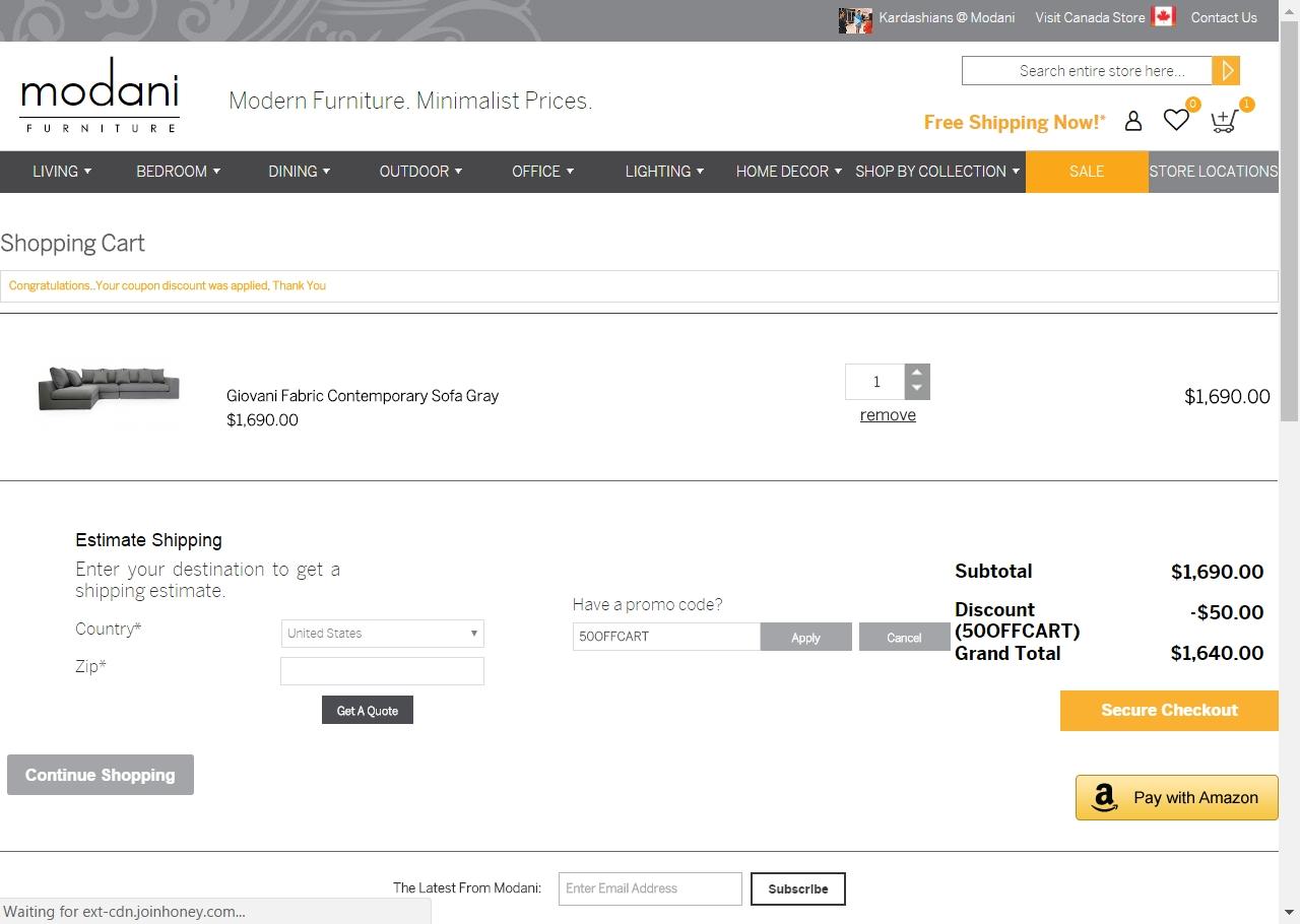 Amazon furniture coupon code