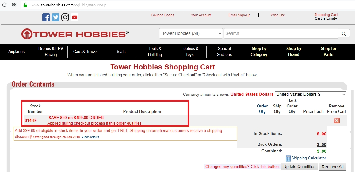 $45 off Tower Hobbies Coupon, Promo Codes May 2019