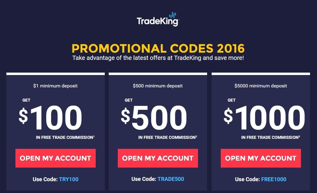 Tradeking forex promotional code