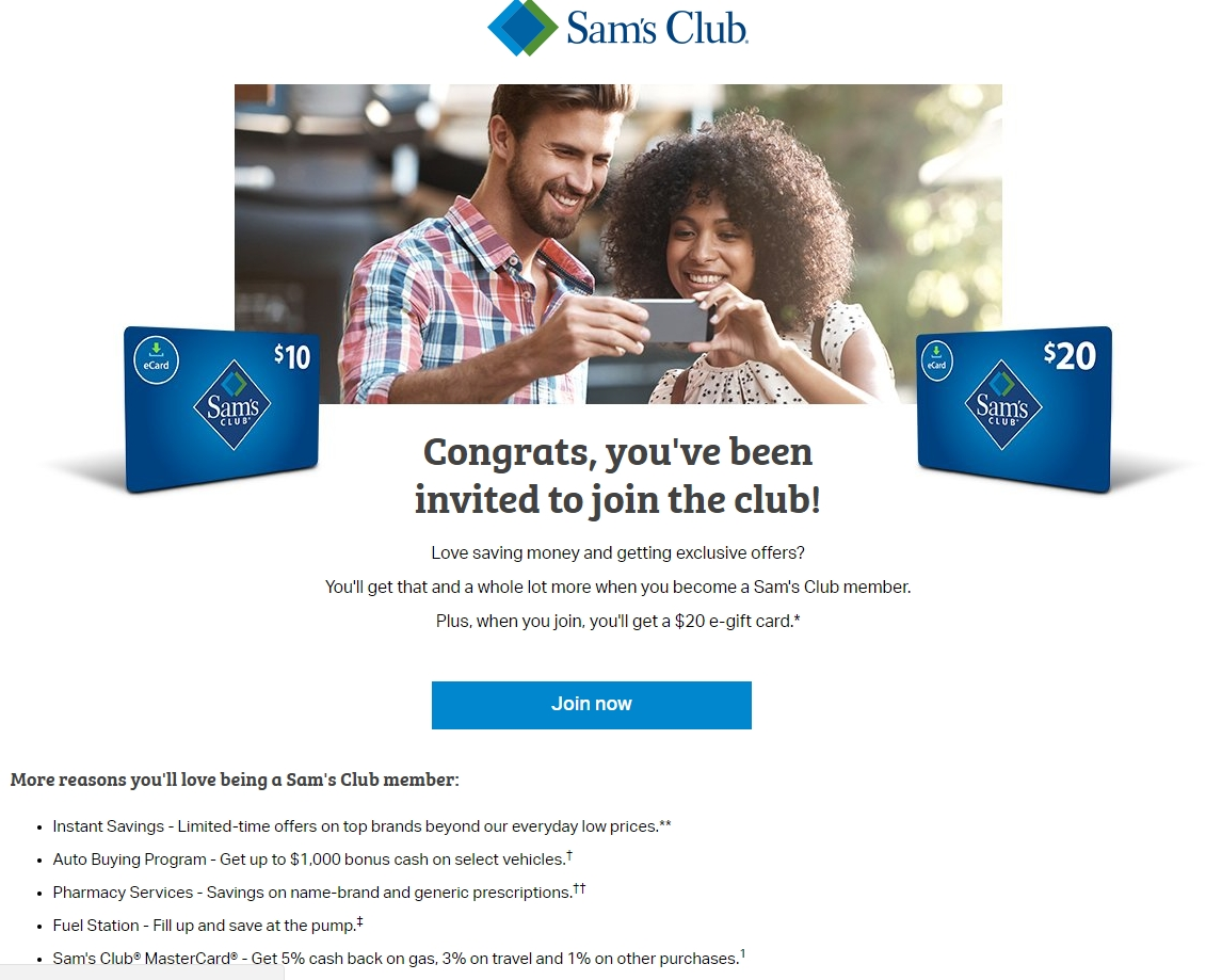 Sam club membership discount coupon 2018
