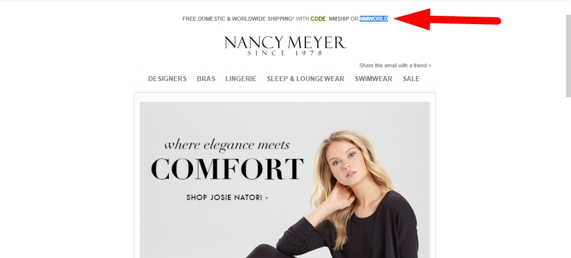 This code offers you 50% Off International Shipping on Orders Over $ Discover amazing deals that will save you money, only from Nancy Meyer.