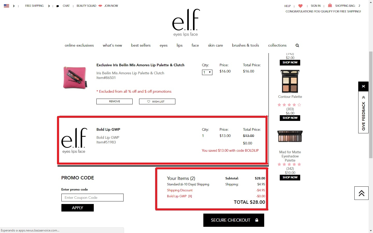 Coupon code for elf