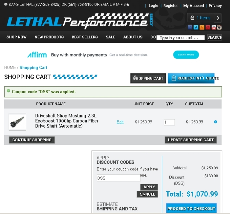Lethal performance coupon code
