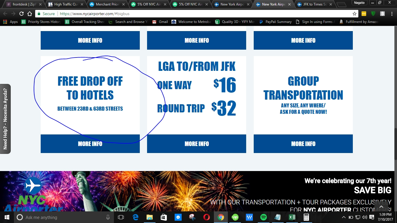 NYC Airporter Promo Code & Discount Deals. NYC Airporter Promo Code gives us a great savings across the products and items at NYC Airporter online store. The deals listed below are latest from NYC Airporter and gives you perfect discount and maximum redemption.