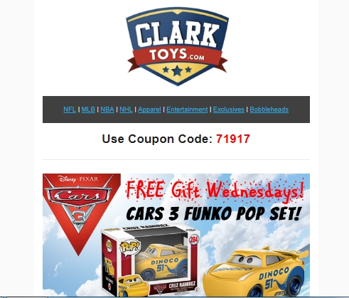 Clark Toys Coupon Codes Clark Toys is owned and operated by J.T. Clark Co. LLP. J.T. Clark's ownership has been a retailer of sports figurines since Kenner's Starting Lineup was introduced in Clark Toys prides itself with superior customer service, low prices and always fast, secure shipping.