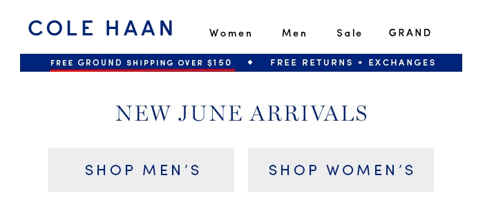 Cole haan discount coupon