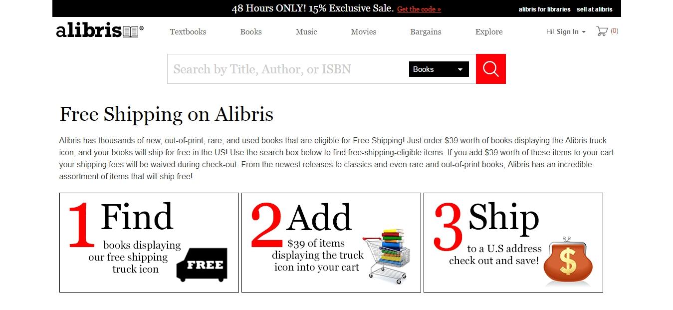 Alibris discount coupon