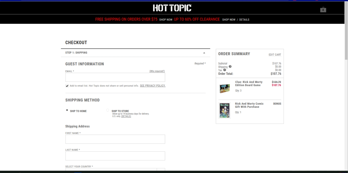 Hot topic free shipping coupon code