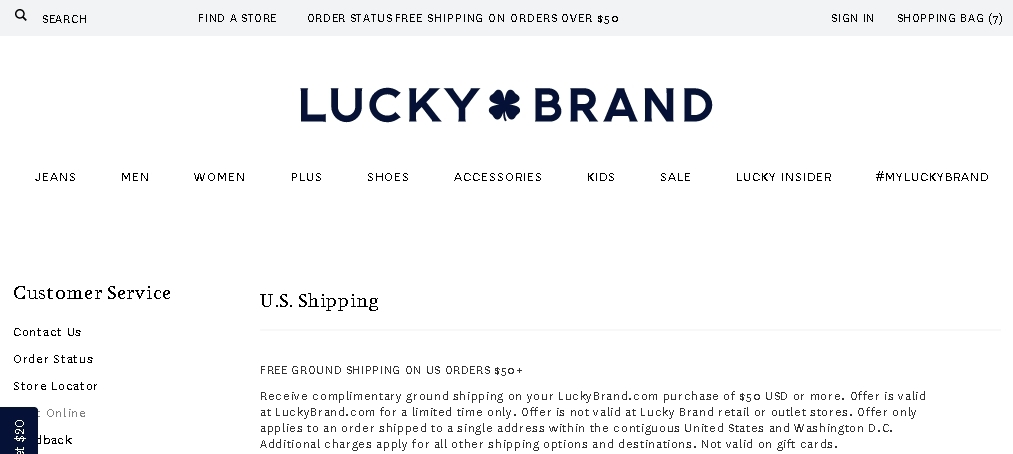 Lucky brand coupon codes