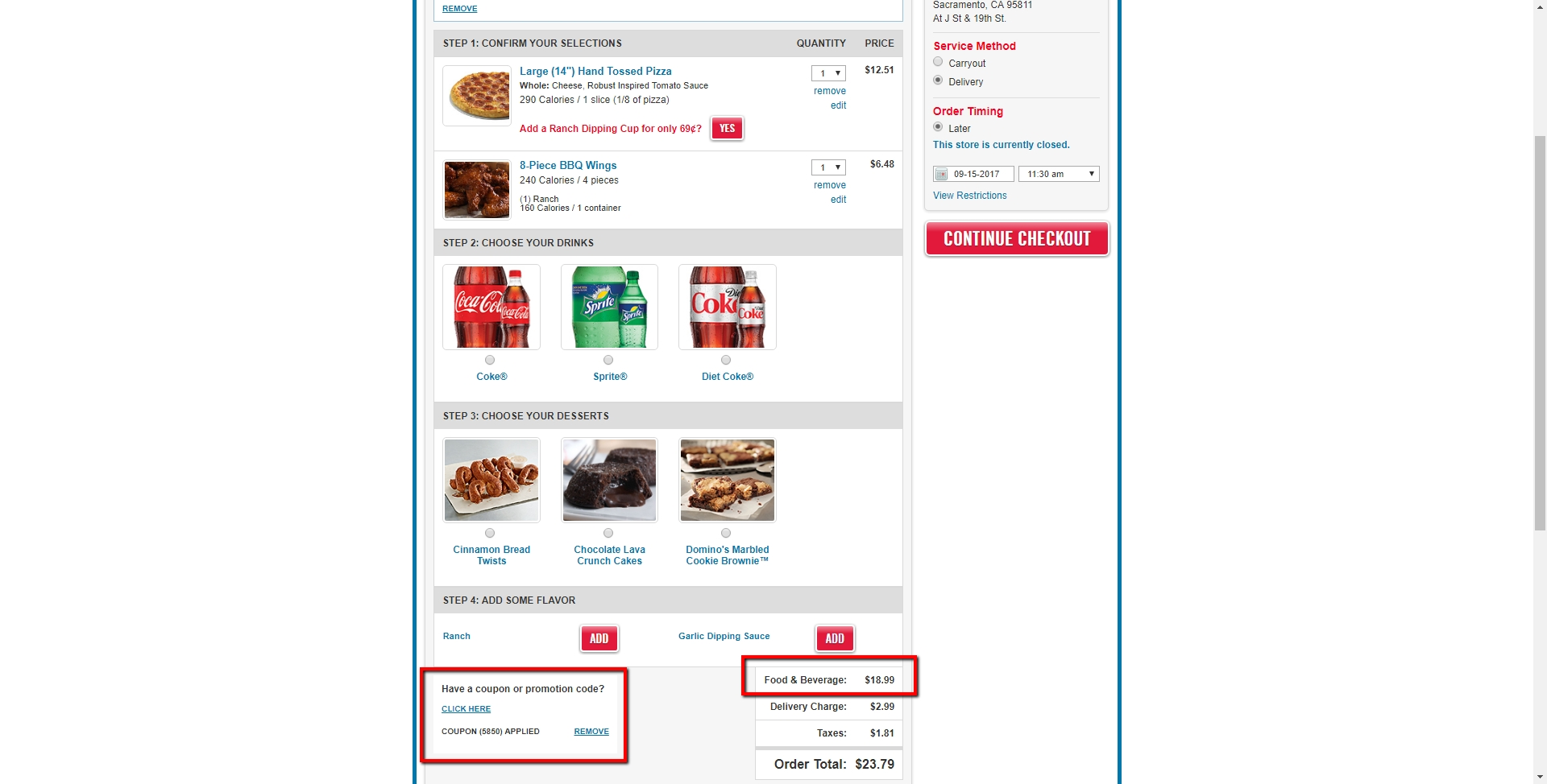 Free online coupon codes for dominos pizza