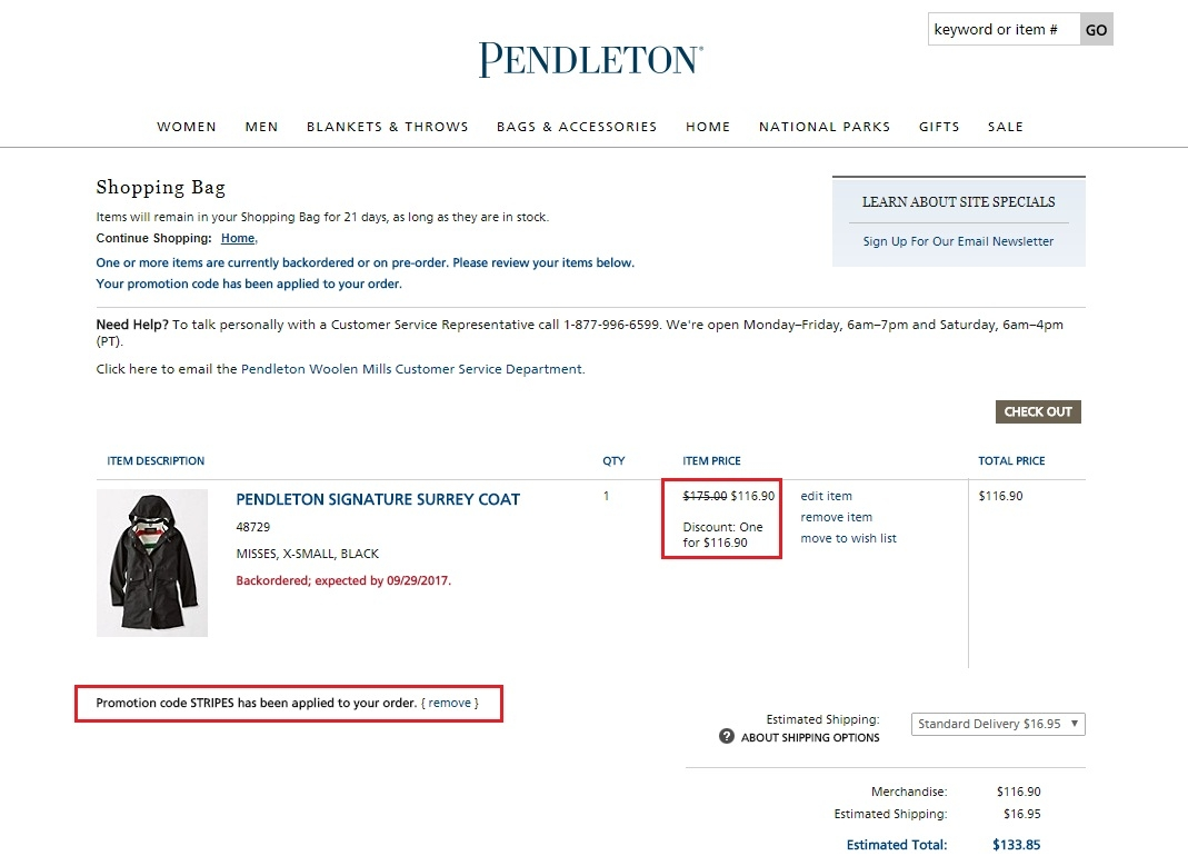 Pendleton coupon code